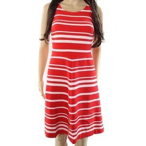 INC Red & White Stripe Dress